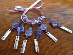 Purple stitch markers