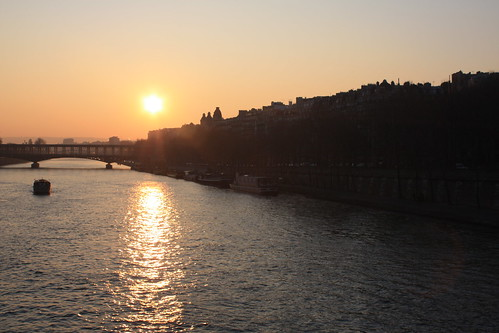 Sunset over the Seine 1