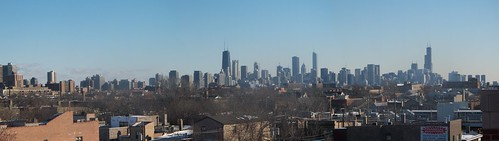 100_4421 Winter Chicago Skyline Panoramic