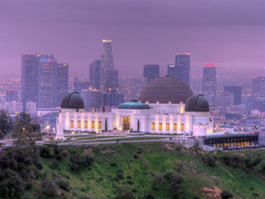 Griffith Observatory Sunrise (rianklong) Tags: california park ca city skyline buildings losangeles observatory griffithpark griffithobservatory griffith hdr canons3