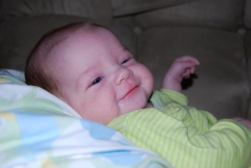 Alex smiles