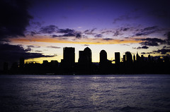 A moody Morning (Tattooed JJ) Tags: nyc ny water skyline sunrise buildings fun cool rainbow jerseycity colorful moody pentax nj windy newport hudson exchangeplace pavonia jjp husonriver rvier k200d