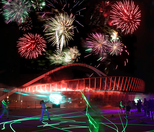 Moses Mabhida Stadium - Fireworks display