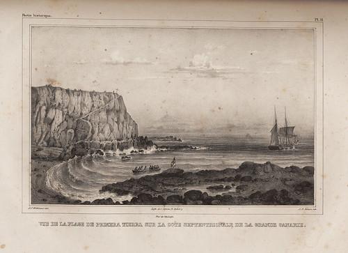 011- Vista de la playa de la primera tierra en la costa Septentrional de Gran Canaria