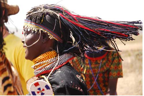 Dancing Turkana woman