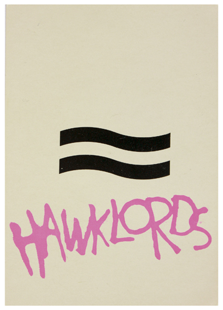 Hawklords postcard 1978.