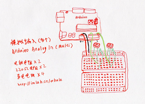 Arduino多重模拟输入 (Multi Analog Input)