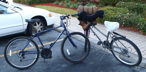 Worldly goods on two wheels
