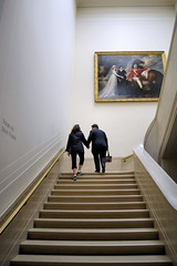 He Carries Her Handbag (Karon) Tags: art museum stairs mall washingtondc gallery paintings nationalgallery staircase dcist nationalgalleryofart westbuilding