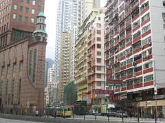 Chinese Methodist Church (GothPhil) Tags: street church architecture skyscraper buildings hongkong tram highrise february methodist 2009 wanchai hennessy