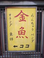 Signboard, Goldfish