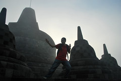 Karate Kid in Borobudur