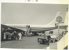 Pan American Stratocruiser (n303wr) Tags: boeing lax panamerican stratocruiser n303wr