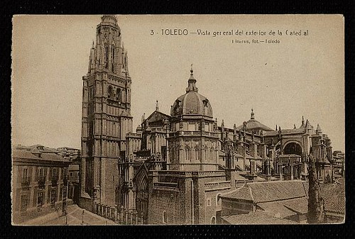 Catedral de Toledo aún con el Cimborrio antes de ser demolido en 1910