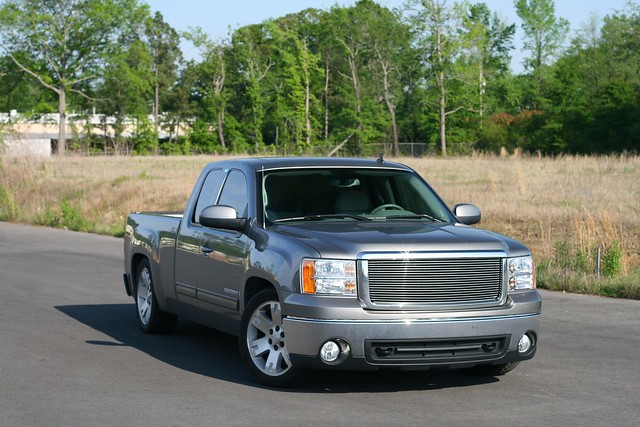 truck lowered canon50mmf14 2007gmcsierra djmsuspension
