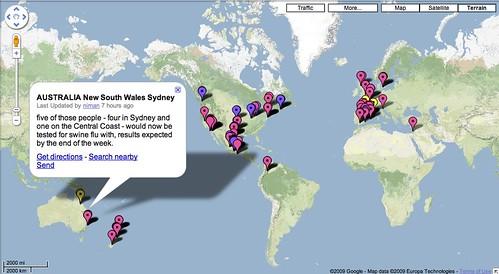 swineflue google map