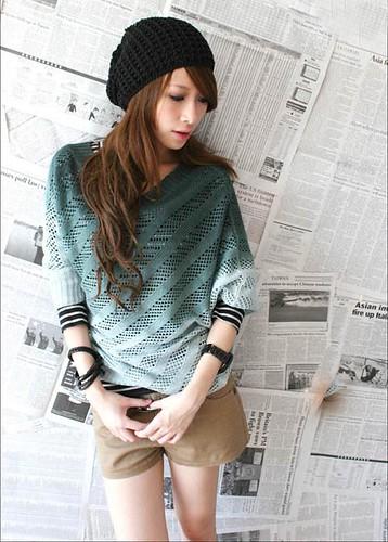 knit asymetrical top