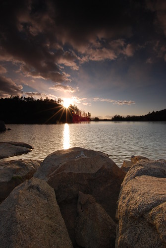 Sun Burst at Goldwater Lake by