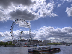 I Spy With My Gigantic Eye (Mortarman101) Tags: sky london wheel thames clouds river londoneye millenium hdr anawesomeshot atomicaward