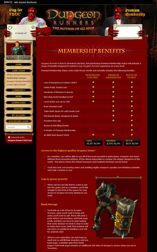 Dungeon Runners Membership Benefits