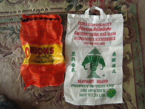 onion/rice sacks