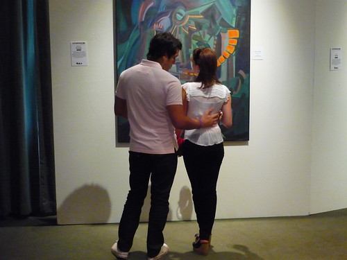 A couple in the curated room