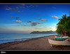 Canipaan, Hinunangan Southern Leyte   Explore (rev_adan) Tags: trip blue sunset sea sky white beach clouds canon boats island eos sand afternoon philippines resort pump southern shore leyte 40d revadan vosplusbellesphotos canipaan palongpong