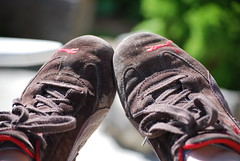 shoes, resting (crandlej) Tags: mayflowers