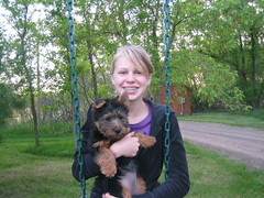 Lydia and Teddy swinging!