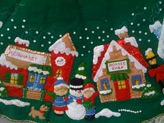 Christmas Village Tree Skirt.