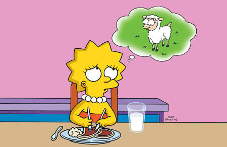The Dawn of Vegetarianism: Lisa Simpson and the Lamb and some Lamb Chops