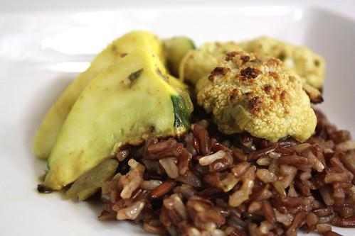 Cauliflower and Squash Rhubarb Curry