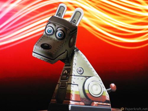 Super Robot Dog Paper Illusion 01