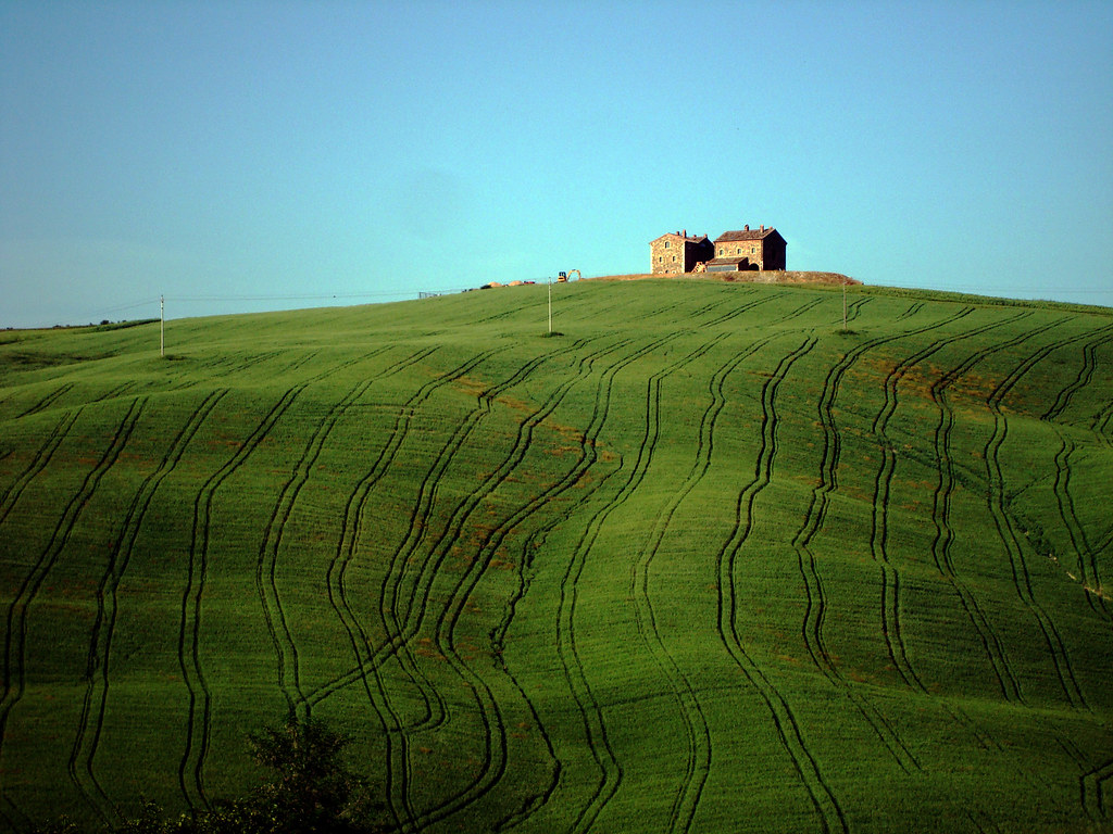 Tuscany, casale near San Quirico d'Orcia