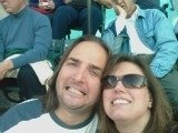 Mark and Tara at Indians Game
