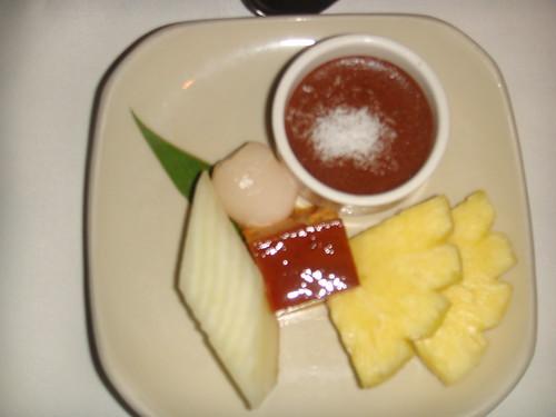 Delicatessen de dulces y frutas tropicales del Jardín Thai