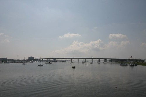 Bridge across Ashley River, to Charleston.