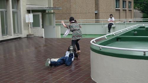 Catfight between Mika (Yumiko Kitazawa) and Mako (Annu Shimizu)