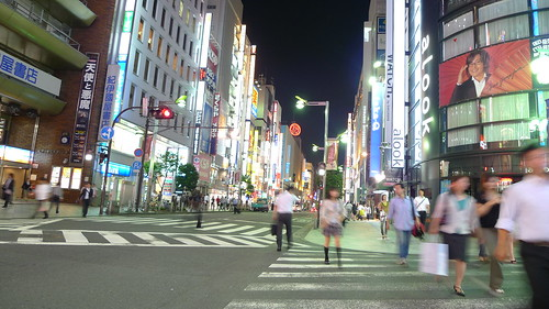 People crossing the road in Shinjuku