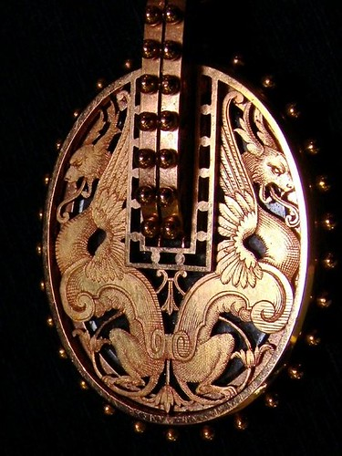 Gold Locket with Griffins