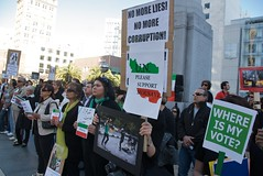 Thursday Iran protest in Union Square in San F...