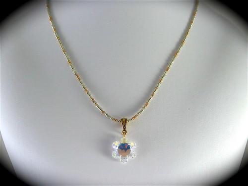 Swarovski Crystal Flower Beaded Necklace