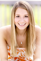 Senior Photo - Orange Dress