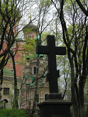Donskoy Monastery, Moscow, Russia (Marc_P98) Tags: church cemetery grave cross cathedral god russia moscow great mother christian monastery burial don russian orthodox pushkin tolstoy donskoy