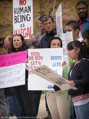 Colorado Springs News: AZ SB1070 Latino Protest (DonnaMartinezPhoto) Tags: arizona news bill photos cityhall protest az rights coloradosprings latino immigration journalism april30 newsworthy sb1070