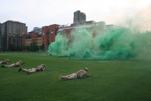 Covering smoke