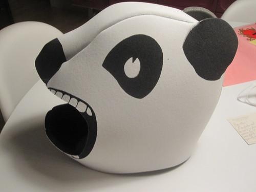Foam panda head