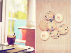 Cookie Mood (Strawberry Mood) Tags: life morning light food cup window kitchen cookie mood tea pastel balcony cupoftea strawberrymood
