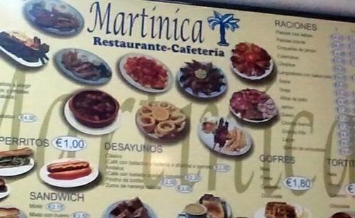 Móstoles | Martinica | Menú