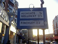 Muswell Hill sign close